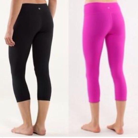 4f3352ec53 lululemon athletica Pants - Black pink Lululemon reversible wonder under  crop
